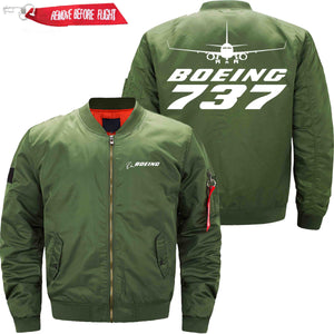 PilotX Jacket Army green thin / S B 737 Jacket -US Size