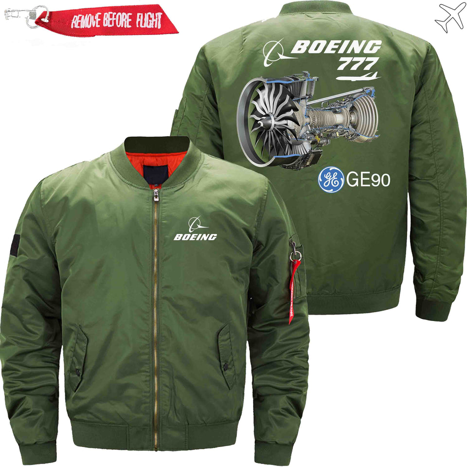 PilotX Jacket Army green thin / S B 777 GE90 Jacket -US Size