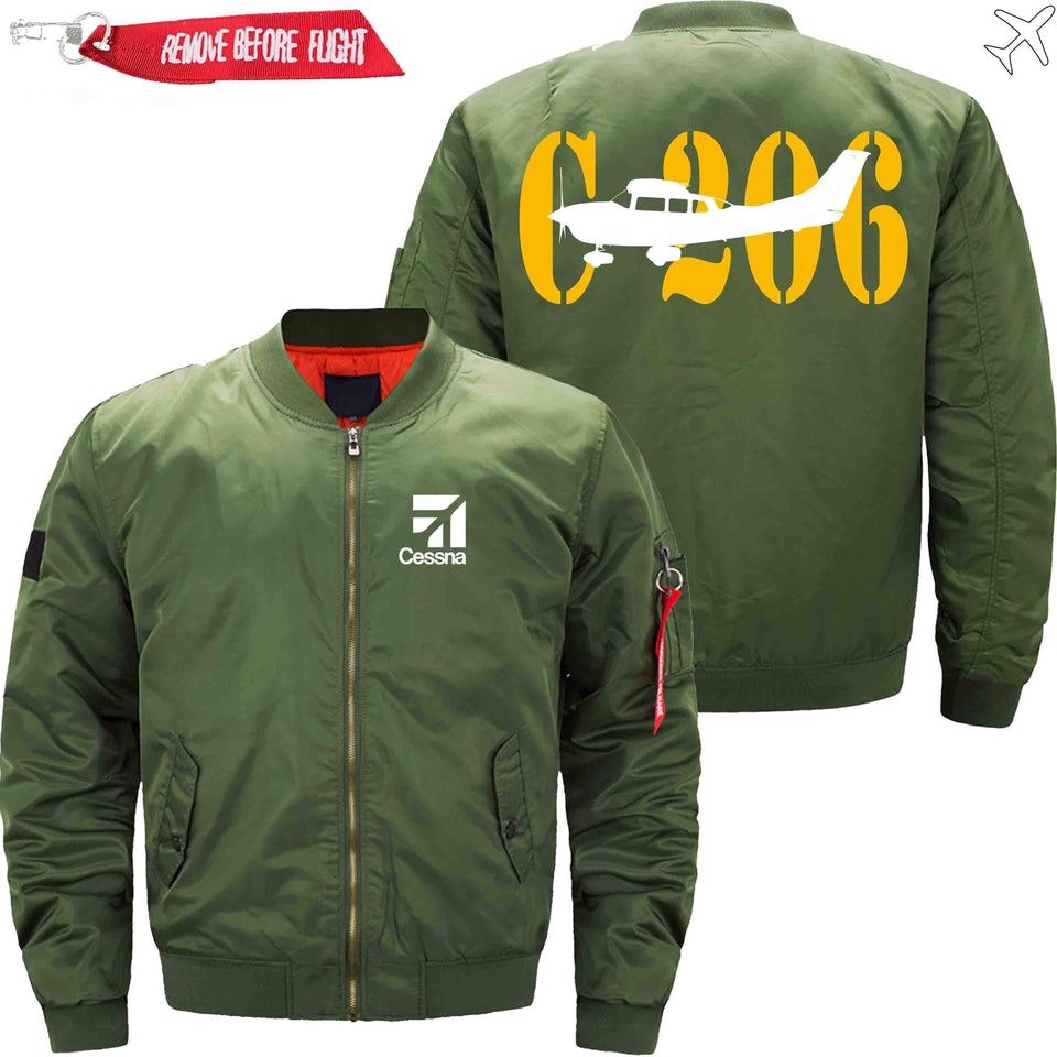 PilotX Jacket Army green thin / S CESSNA 206 Jacket -US Size