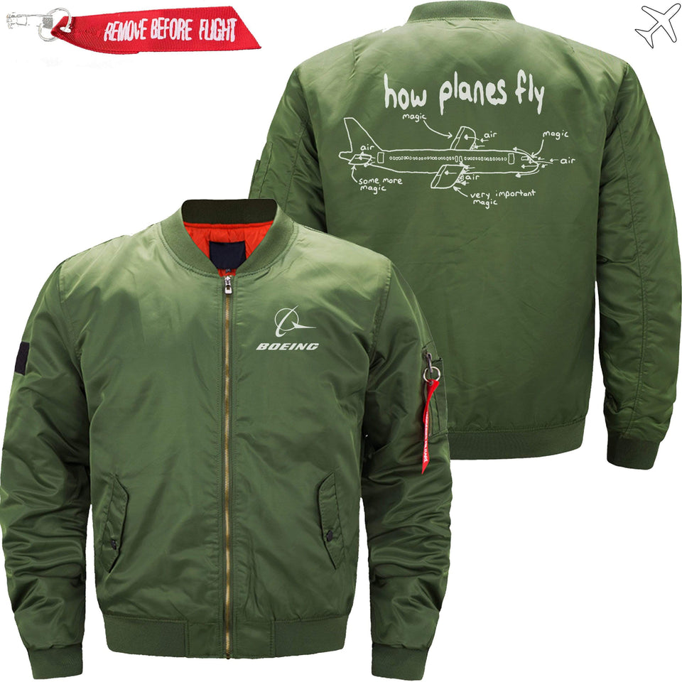 PilotX Jacket Army green thin / S How Planes Fly Jacket -US Size