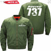 PilotX Jacket Army green thin / S The-737 Jacket -US Size