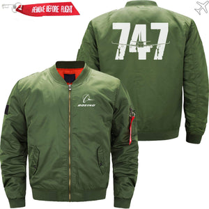 PilotX Jacket Army green thin / S The 747 Jacket -US Size