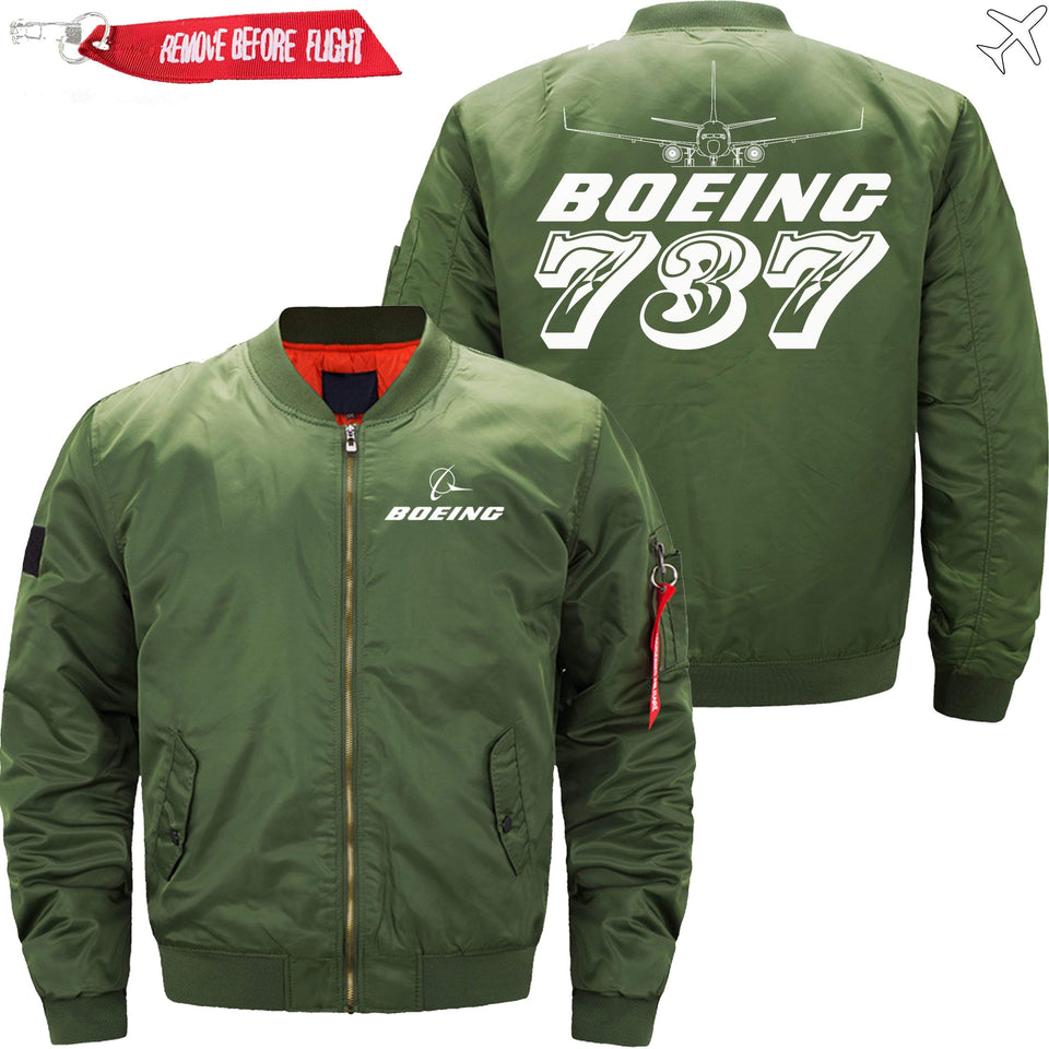 PilotX Jacket Army green thin / S The 787 Jacket -US Size
