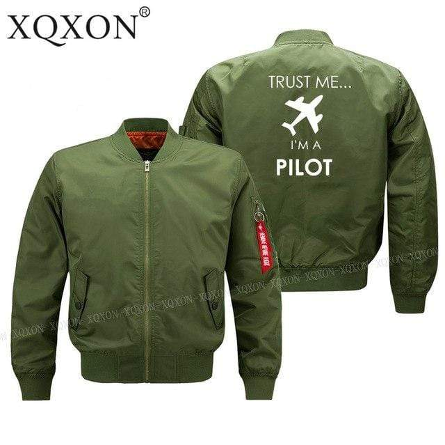 PilotX Jacket Army green thin / S Trust me I'm a pilot Jacket -US Size