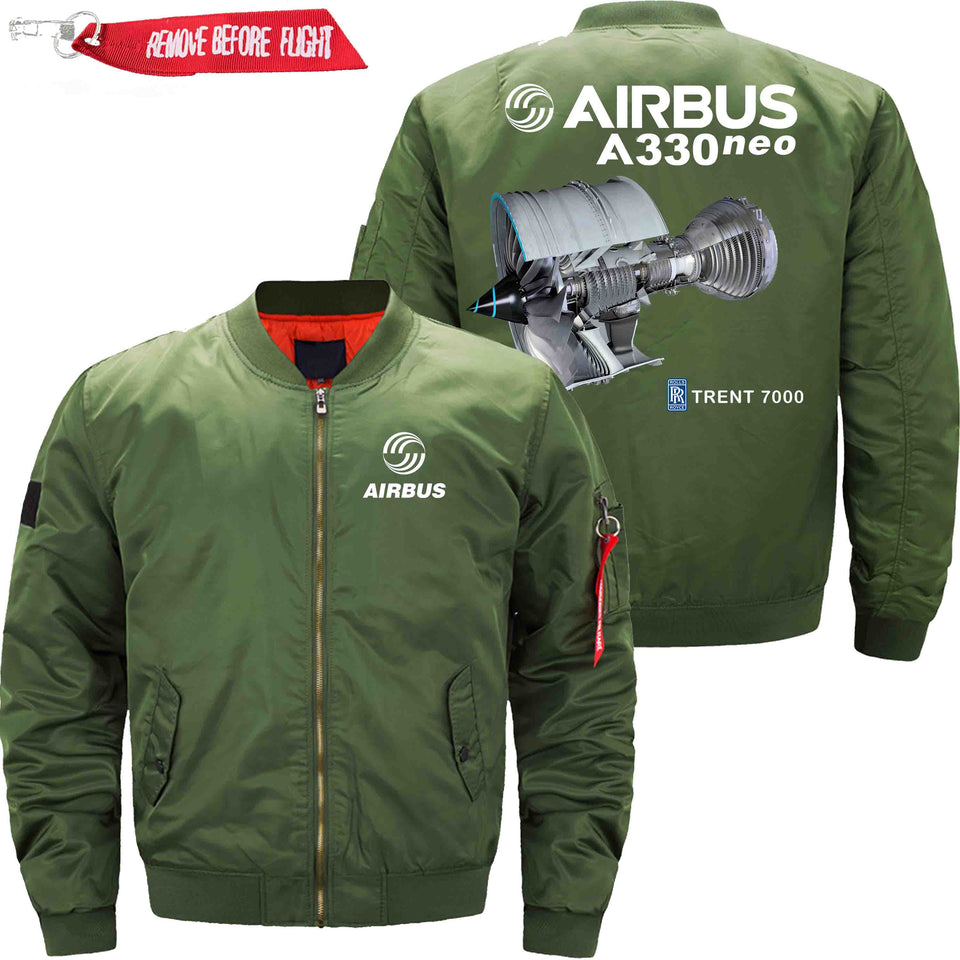PilotX Jacket Army green thin / XS Airbus A330 Neo Trtent 7000 Jacket -US Size
