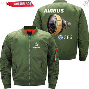 PilotX Jacket Army green thin / XS Airbus & CF6 Jacket -US Size