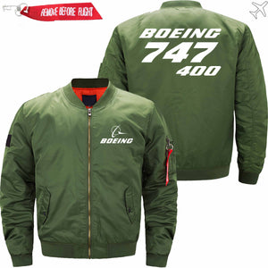 PilotX Jacket Army green thin / XS B 747-400 Jacket -US Size