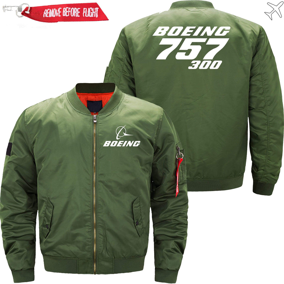 PilotX Jacket Army green thin / XS Boeing 757-300 -US Size