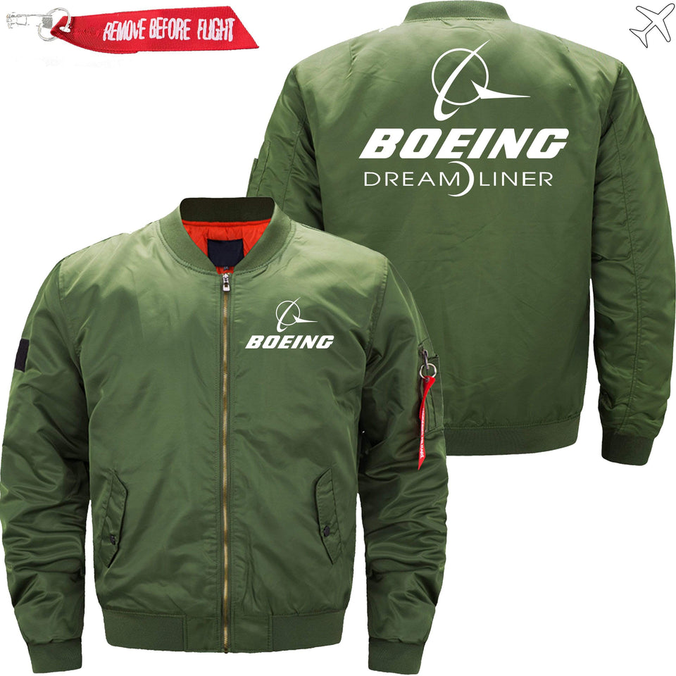 PilotX Jacket Army green thin / XS Boeing 787 Dreamliner -US Size