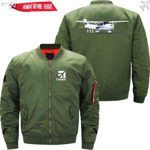 PilotX Jacket Army green thin / XS CESSNA 172 Jacket -US Size