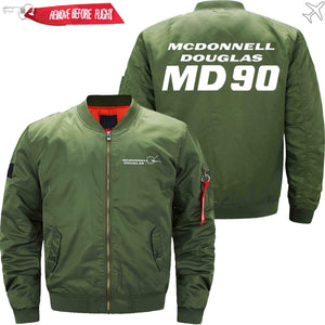 PilotX Jacket Army green thin / XS McDonnell Douglas DC-90 Jacket -US Size