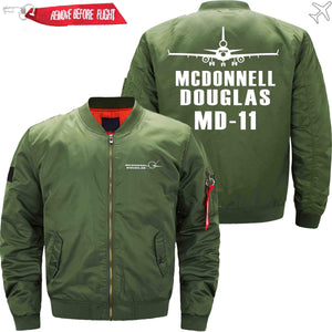 PilotX Jacket Army green thin / XS MCDONNELL DOUGLAS MD-11 Jacket -US Size