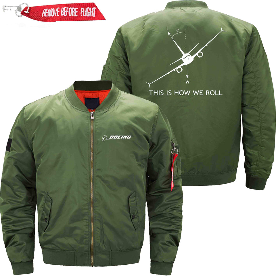 PilotX Jacket Army green thin / XS THIS IS HOW WE ROLL B737 Jacket -US Size