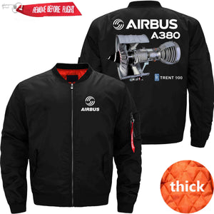 PilotX Jacket Black thick / S Airbus A380 TRENT 900 Jacket -US Size