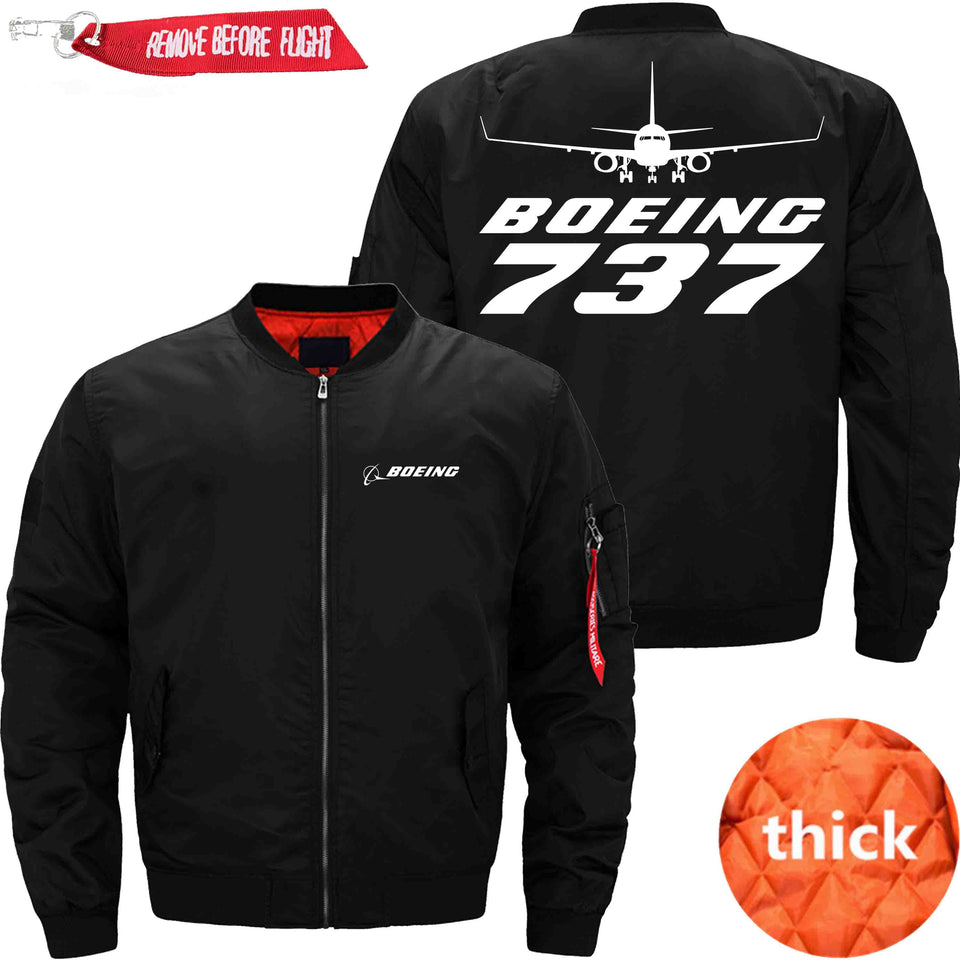 PilotX Jacket Black thick / S B 737 Jacket -US Size