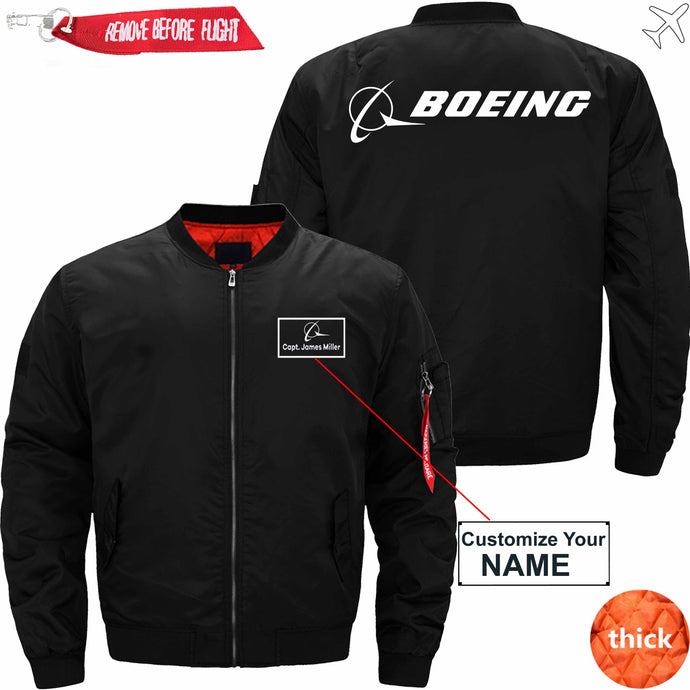 PilotX Jacket Black thick / S B logo CUSTOM NAME JACKET Jacket -US Size