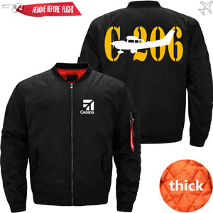 PilotX Jacket Black thick / S CESSNA 206 Jacket -US Size