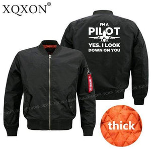 PilotX Jacket Black thick / S Funny Airplane Pilot Jacket -US Size