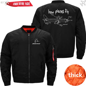 PilotX Jacket Black thick / S How Planes Fly Jacket -US Size