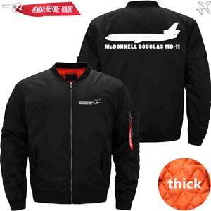 PilotX Jacket Black thick / S McDonnell Douglas MD-11 Jacket -US Size