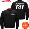 PilotX Jacket Black thick / S The-737 Jacket -US Size