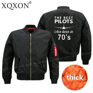 PilotX Jacket Black thick / S The best pilots are born in 70's Jacket -US Size