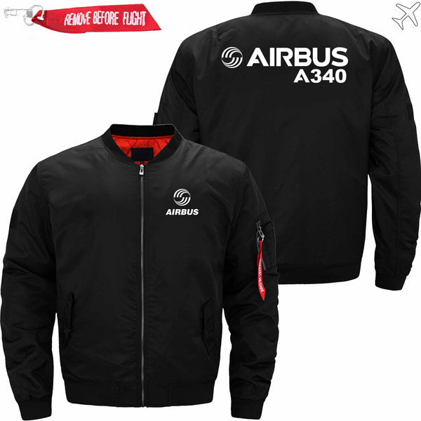 PilotX Jacket Black thin / S Airbus A 340 Jacket -US Size
