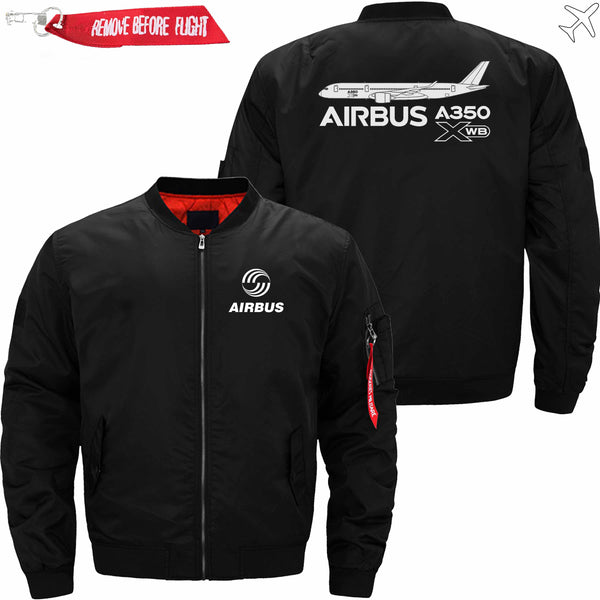 PilotX Jacket Black thin / S Airbus A350 XWB Aircraft Jacket -US Size
