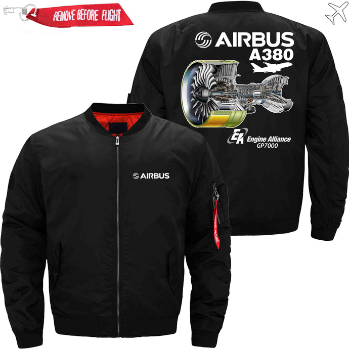 PilotX Jacket Black thin / S AIRBUS A380 GP7000 Jacket -US Size
