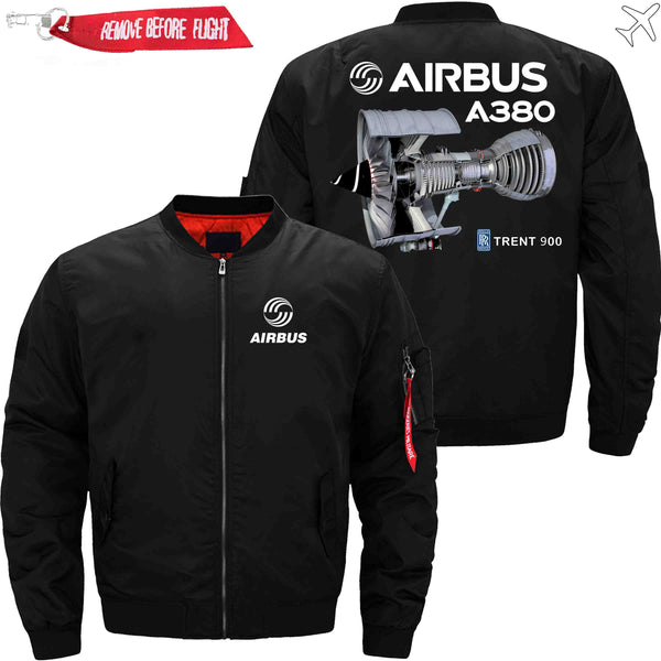 PilotX Jacket Black thin / S Airbus A380 TRENT 900 Jacket -US Size