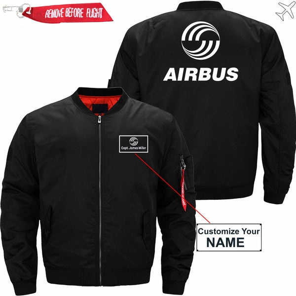 PilotX Jacket Black thin / S Airbus CUSTOM NAME JACKET Jacket -US Size