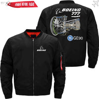 PilotX Jacket Black thin / S B 777 GE90 Jacket -US Size