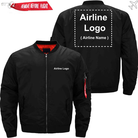 PilotX Jacket Black thin / S Custom Airline Logo Jacket Jacket -US Size