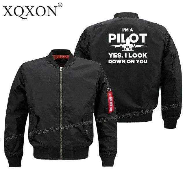 PilotX Jacket Black thin / S Funny Airplane Pilot Jacket -US Size