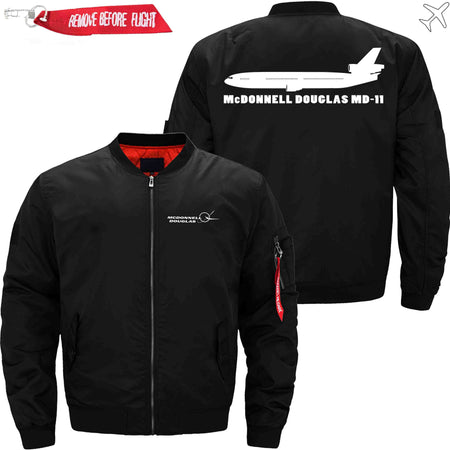 PilotX Jacket Black thin / S McDonnell Douglas MD-11 Jacket -US Size