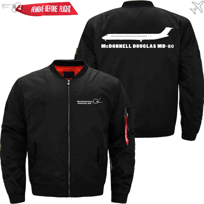 PilotX Jacket Black thin / S McDonnell Douglas MD-80 Jacket -US Size