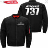 PilotX Jacket Black thin / S The-737 Jacket -US Size