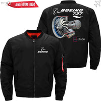 PilotX Jacket Black thin / S The B737 And CFM56 Jacket -US Size