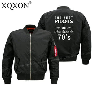 PilotX Jacket Black thin / S The best pilots are born in 70's Jacket -US Size