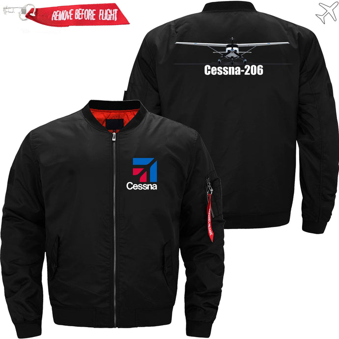 PilotX Jacket Black thin / S (US XXS) Cessna-206 Jacket -US Size
