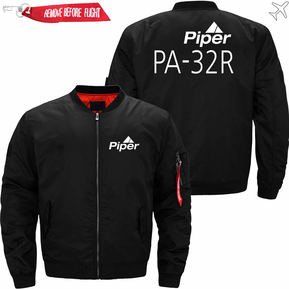PilotX Jacket Black thin / S (US XXS) Piper PA-32R Jacket -US Size
