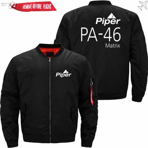 PilotX Jacket Black thin / S (US XXS) Piper PA-46 Jacket -US Size