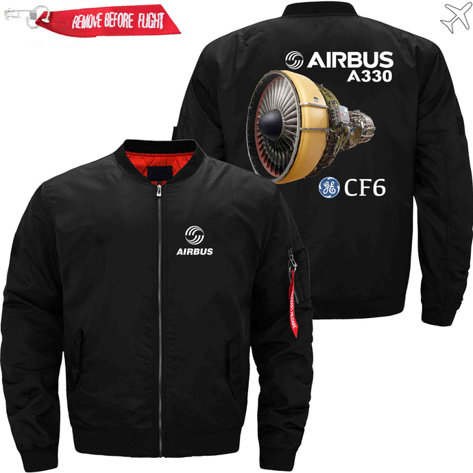 PilotX Jacket Black thin / XS Airbus A330 & CF6 Jacket -US Size