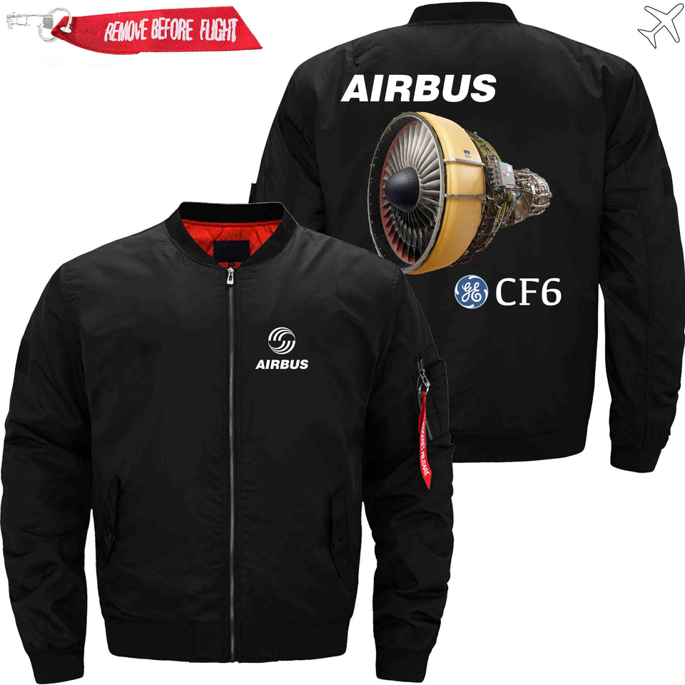 PilotX Jacket Black thin / XS Airbus & CF6 Jacket -US Size