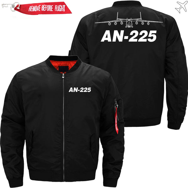 PilotX Jacket Black thin / XS AN-225 with Aircraft -US Size