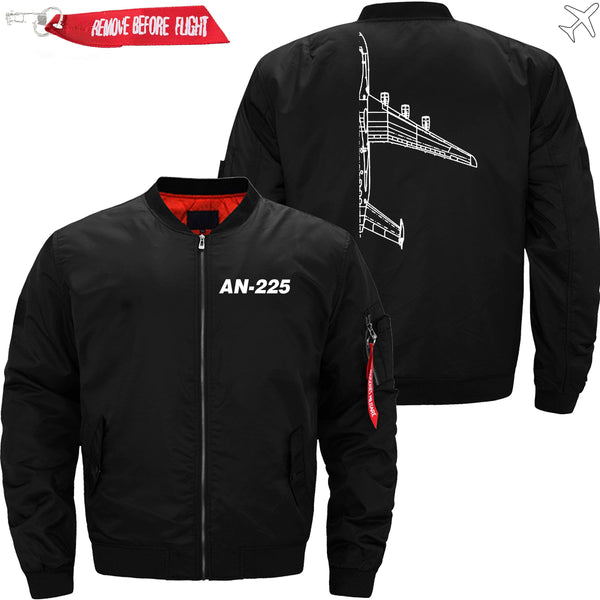 PilotX Jacket Black thin / XS Antonov An-225 Cross section -US Size