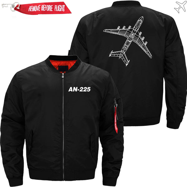 PilotX Jacket Black thin / XS Antonov An-225 Diagram -US Size