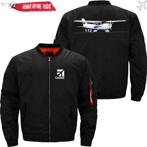 PilotX Jacket Black thin / XS CESSNA 172 Jacket -US Size