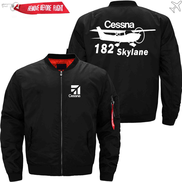PilotX Jacket Black thin / XS CESSNA 182 Skylane Jacket -US Size