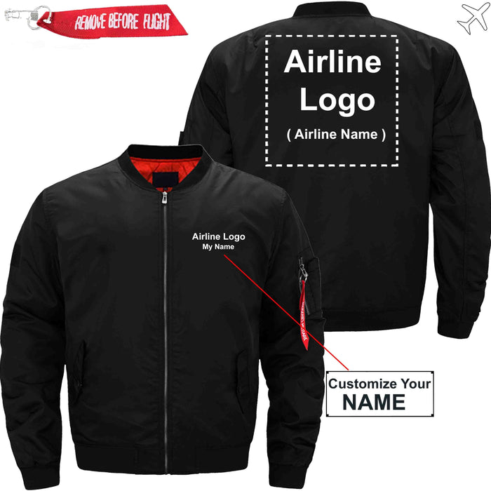 PilotX Jacket Black thin / XS Custom Name & Airline Logo Jacket Jacket -US Size